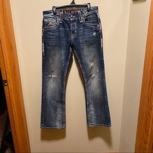 Rock revival Benjamin relaxed straight jeans